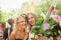 Молодожены Александр и Наталья